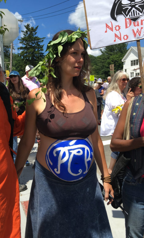 Amy Warner, one of the organizers of the march. Photo; David Scribner