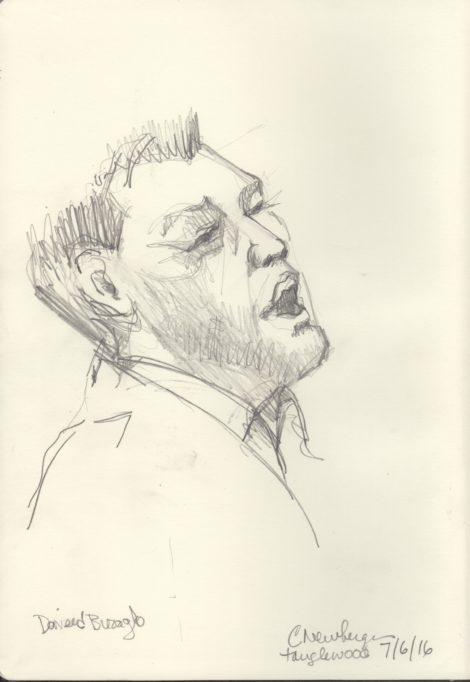 Tenor Daveed Buzaglo. Illustration: Carolyn Newberger