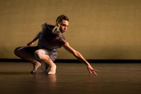 "Hubbard Street Dancer Jacqueline Burnett in ""Waxing Moon"" by Robyn Mineko Williams. Photo by Todd Rosenberg"