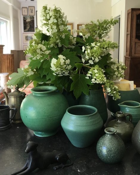 Broken branches can be viewed as the oversight of the inner-gardener or simply repurposed to be brought to a holiday barbecue. I now want to grow a few extra oakleaf hydrangeas just for cutting. I am curious to see if they dry as well as paniculate types of hydrangea. Photo: Lee Buttala