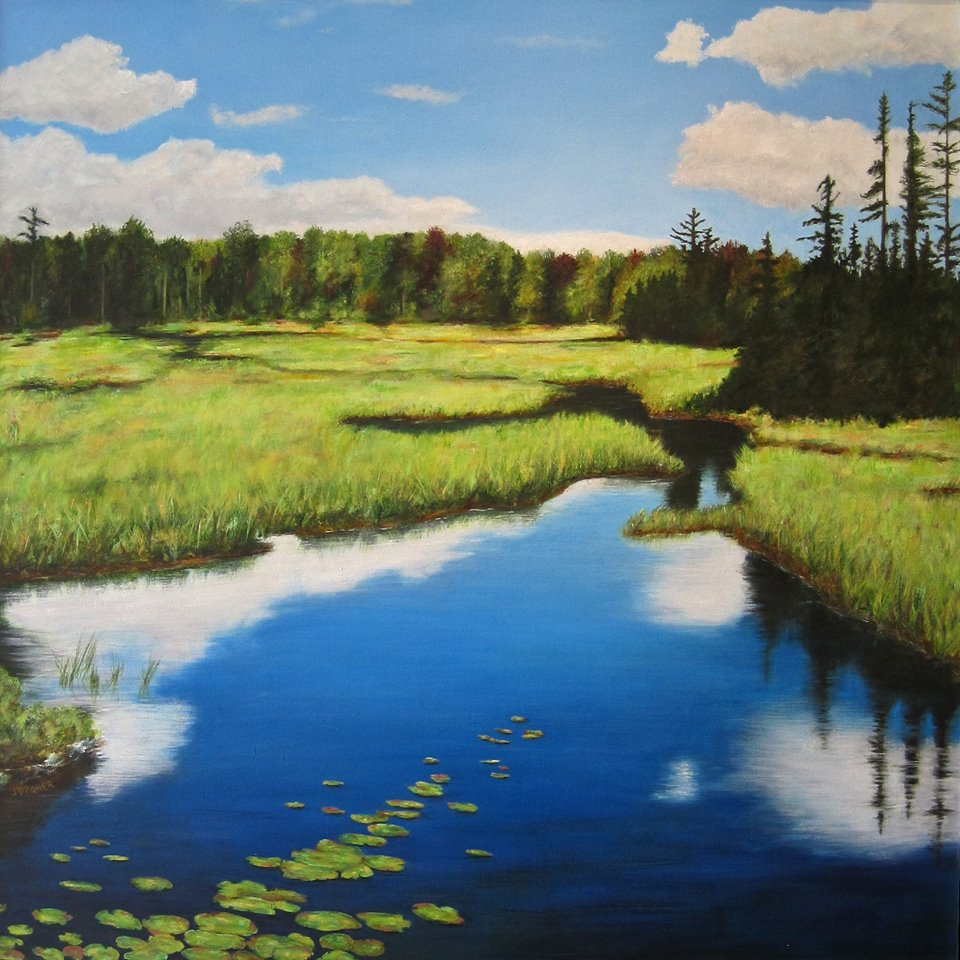 """""""The North Pond Flow"""" by Jody Potter."""