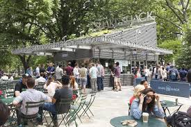 The Shake Shack in Madison Square Park.