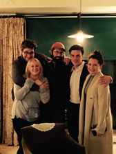 From left: Nathan Wolfe Coleman, Rory Hammond, Reilly Hadden, Finn Wittrock and Sarah Roberts enjoy each other's company at a recent get-together.