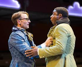 Ryan Winkles as Valentine and Thomas Brazzle as Proteus. Photo: Ava G. Lindenmaier.