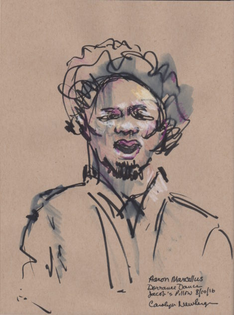 Vocalist Aaron Marcellus. Illustration by Carolyn Newberger