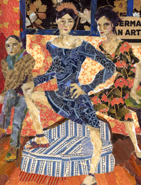 Lorraine Klagsbrun. At Ease, 14 x 16. Collage.
