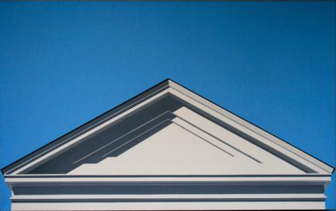 Warner Friedman. White Building, 64 x 40. Acrylic on canvas.