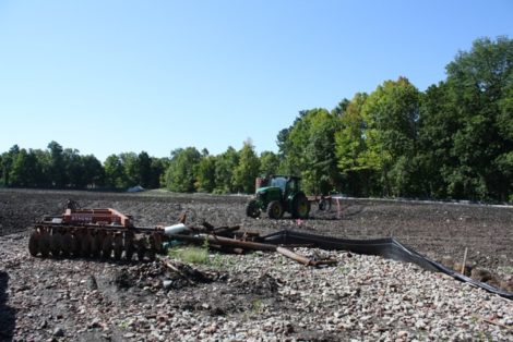 The 8-acre brownfield during the CDC's attempt at bioremediation in 2014. Sample results showed significant reductions in dioxin levels. But MassDEP shut the pilot project down over a host of issues. Photo: Heather Bellow
