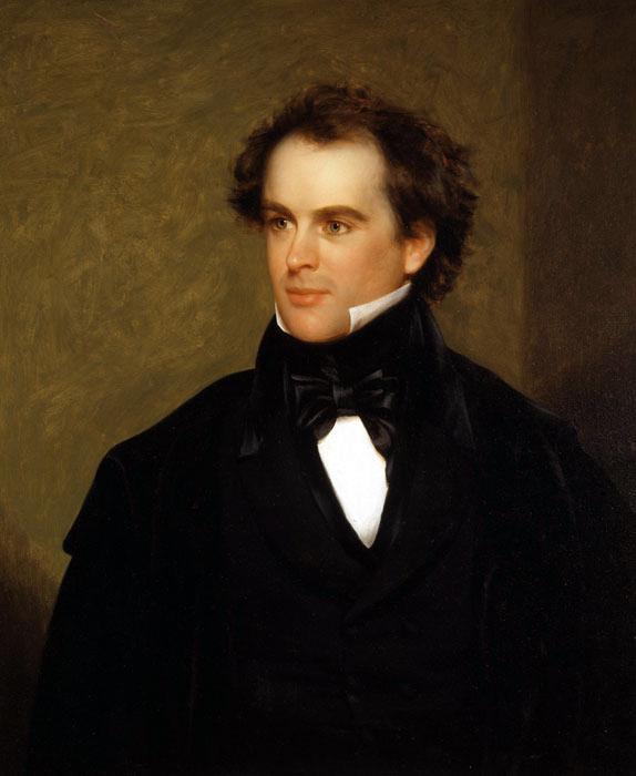 Nathaniel Hawthorne by Charles Osgood, 1841.