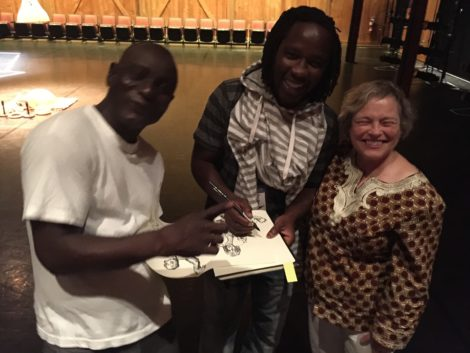 Badolo and Konate with Carolyn.
