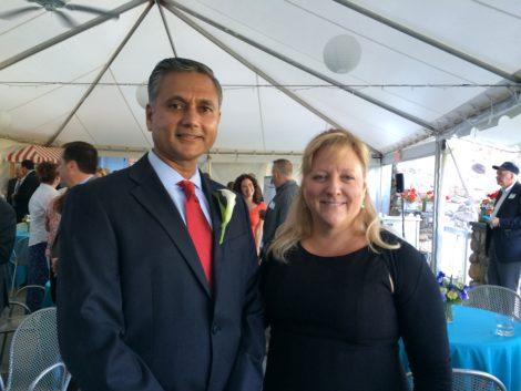 Vijay Mahida with Betsy Andrus, executive director, Southern Berkshire Chamber of Commerce. Photo: Marcie L. Setlow