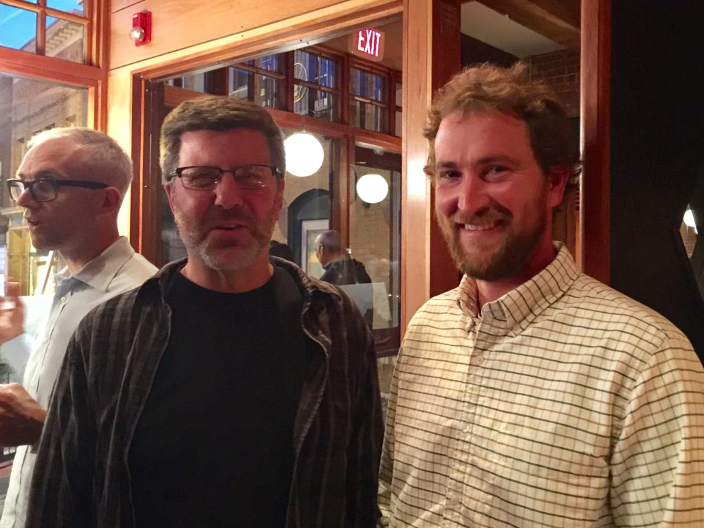 Great Barrington Selectboard member Ed Abrahams, left, and Board Chair Sean Stanton. Photo: Heather Bellow.