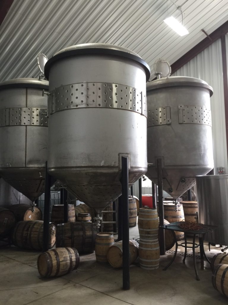 Fermenters at Berkshire Mountain Distillers. Photo: Heather Bellow.