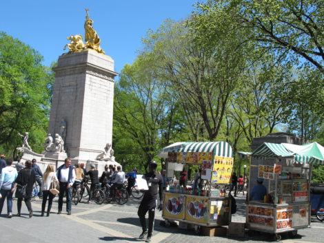 Columbus Circle entrance to Central Park.