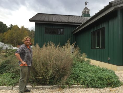 Head Gardener Mike Sharry with wormwood used in some of BMD's spirits. Photo: Heather Bellow.