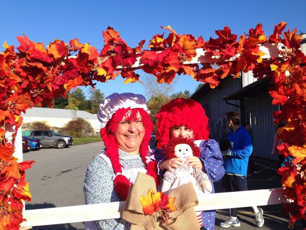 Fairview Hospital Chief Operating Officer Doreen Hutchinson and her granddaughter, Enara O'Connell, at the 2014 Monster Dash.