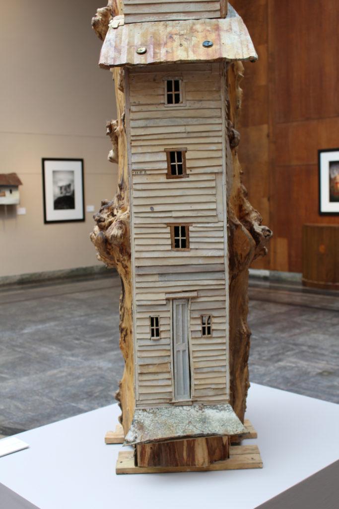 "Robert Hite, ""Black Willow Tower, mixed media, 2014–15."