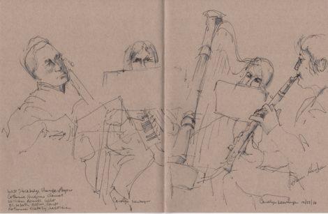 The Tango Quartet. Illustration: Carolyn Newberger