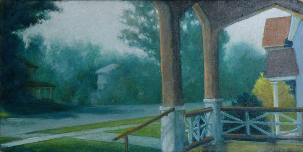 """""""'Burban Street"""" by Morris Bennett."""