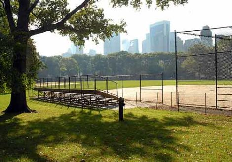 Heckscher ballfields in Central Park.