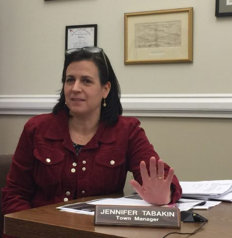 Town Manager Jennifer Tabakin and the Selectboard Monday issued a resolution that protects undocumented immigrants. Photo: Heather Bellow