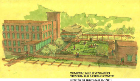 Nick Kelley's alternative concept for the redevelopment of his mill property, prepared as an antidote to the Muss proposal.