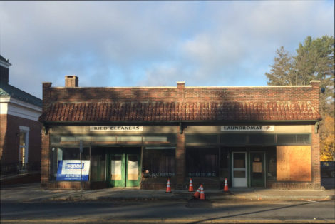 Ried Cleaners, on Main Street. The building at the very left is the Great Barrington Post Office.