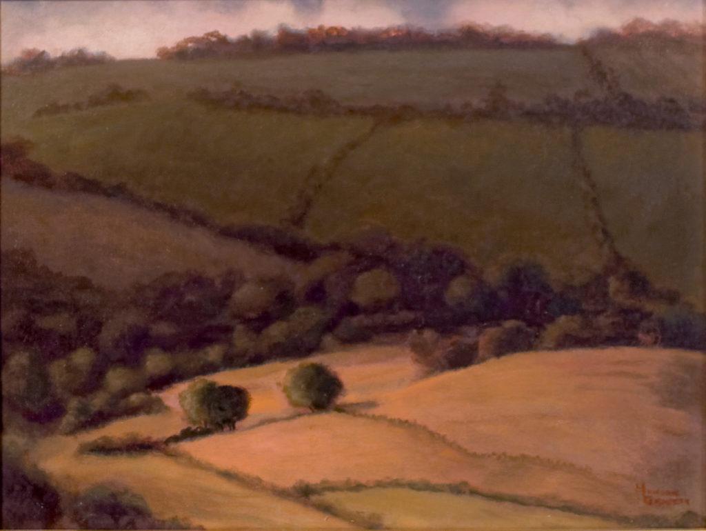 """Taghkanic Hills"" by Patricia Munson Gravett, oil painting on panel, 9"" x 12"""