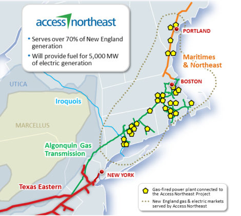 Spectra Energy's 'Access Northeast' pipeline network.