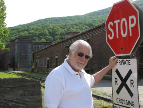 Developer Stephen Muss, in front of Kelley's mill in Housatonic, in 2011.