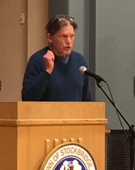 Stockbridge resident Denny Alsop addressing Board of Selectmen.