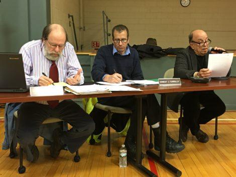 The Stockbridge Board of Selectmen. From left, Donald Chabon, Ernest J. Cardillo and Stephen Shatz. Photo: David Scribner