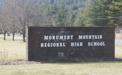The entrance to Monument Mountain Regional High School.