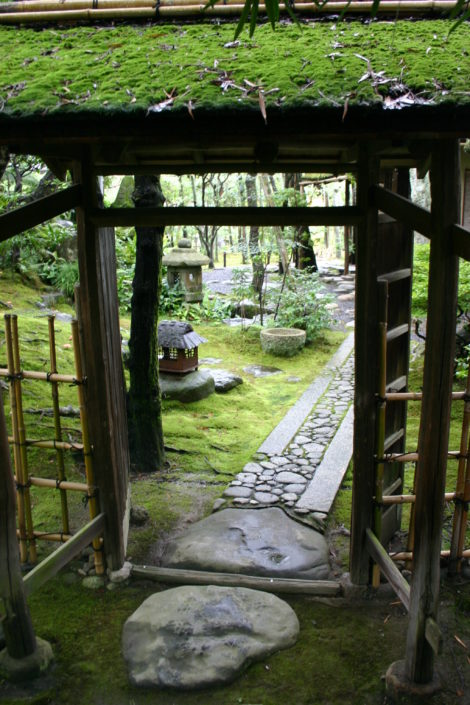 The stones set into a tea garden are often set irregularly to slow a visitor down and make time to leave the world behind. Photo: Lee Buttala