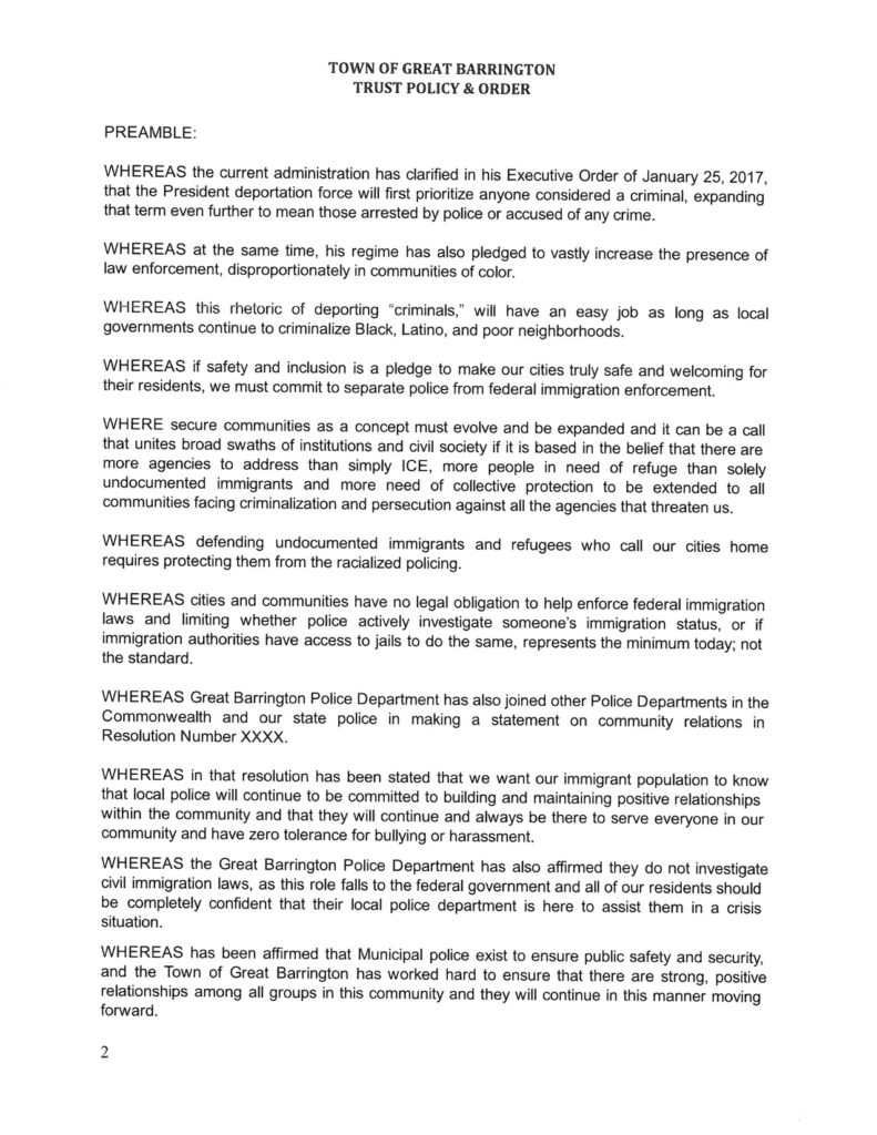 Trust Policy page 1