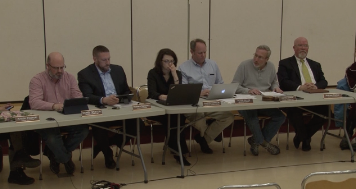 Members of the BHRSD School Committee: from left, Dan Weston, Rich Dohoney, Business Manager Sharon Harrison, Superintendent Peter Dillon, Committee Chair Stephen Bannon, and Andy Potter. Photo: Courtesy CTSB