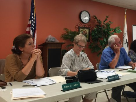 Town of Becket Board of Selectmen: from left, Nicole Ledoux, Jeanne Pryor and Bill Elovirta.