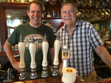 Andrew Mankin and Gary Happ, now serving solar brewed beer.
