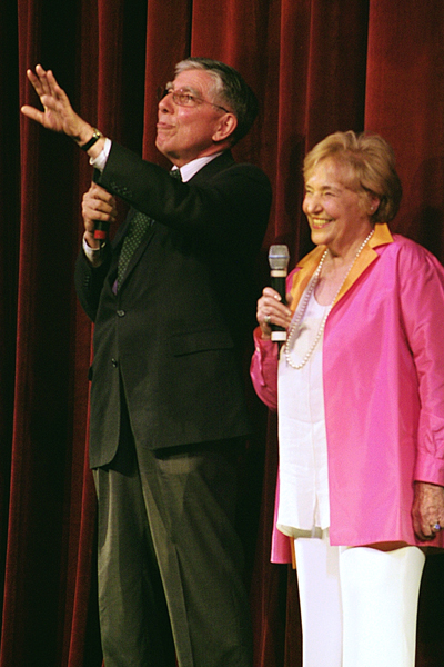 Hugh Hardy and Mahaiwe Performing Arts Center co-founder Lola Jaffe at celebration of the re-opening of the theatre.