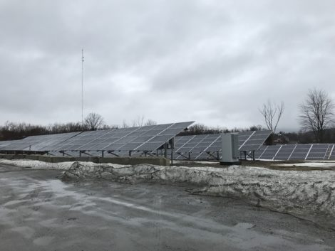 The 480 solar panels installed on the northern side of the Barrington Brewery parking lot that supplies 168,000kw.