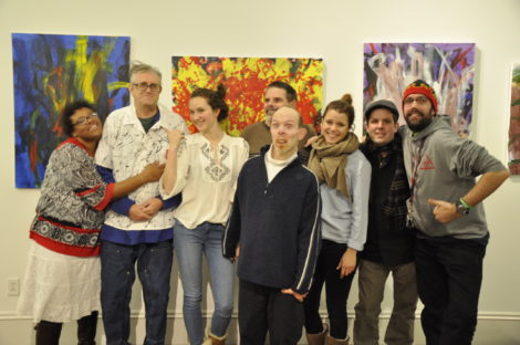 CATA artists at Good Purpose Gallery exhibit.