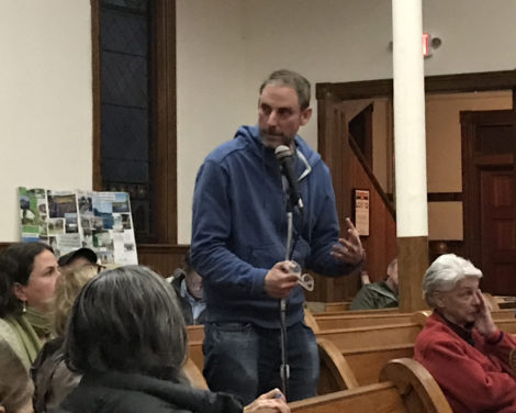 Great Barrington resident Michael Cohen advised the HRI and its followers to use social media to get the word out. Photo: Terry Cowgill