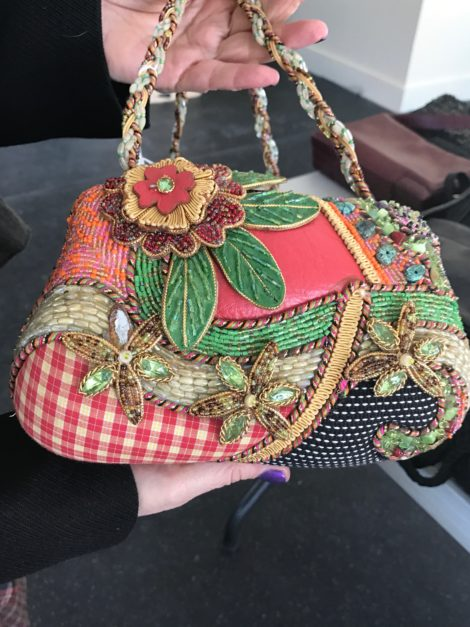 A bag by Mary Francis. Very collectible, these bags are usually very pricey, but this one at BerkChique! will sell for $45.