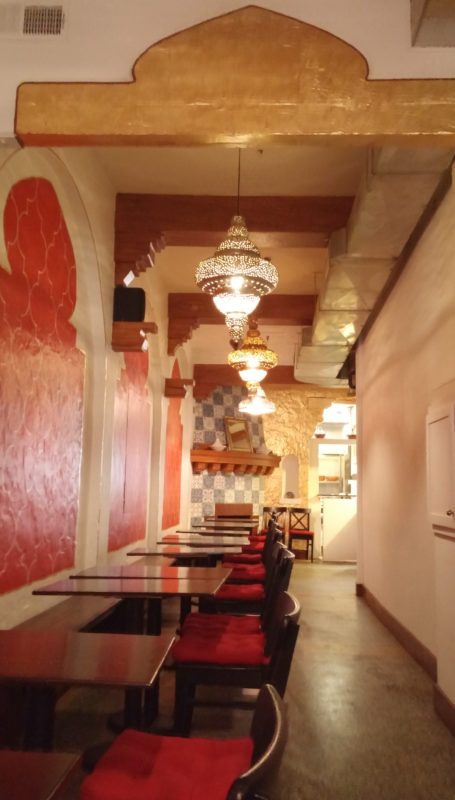 The interior of the Tangier Café. Photo: Anne Dwyer