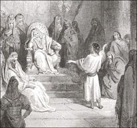 Joseph before the Pharaoh.