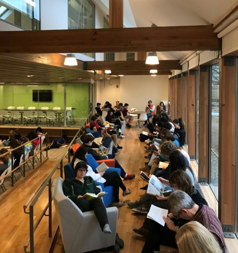 Students and faculty have been making use of the new learning commons for the past few weeks.