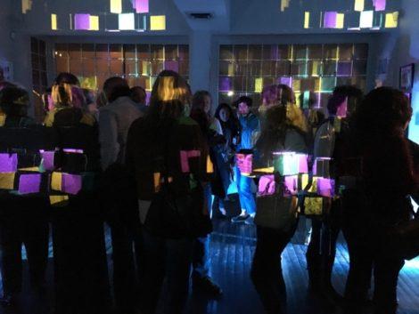 Attendees enjoying the post-performance light show. Photo: Andrew Blechman