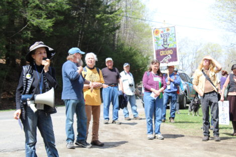 Susan Theberge, one of the leaders of Sugar Shack, urges action. Photo: Terry Cowgill