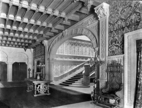 Grand staircase in the Vanderbilt mansion at 660 Fifth Avenue.
