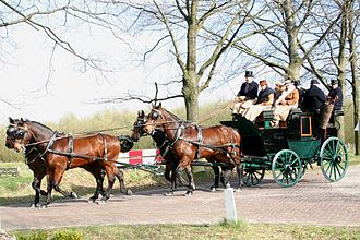 A Brewster carriage -- four-in-hand.